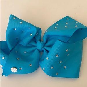 blue jojo bow
